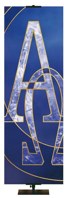 Liturgical Banner Alpha Omega
