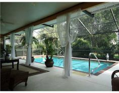 custom pool enclosure hexagon shape. Sheer Drapes On Lanai Custom Pool Enclosure Hexagon Shape E