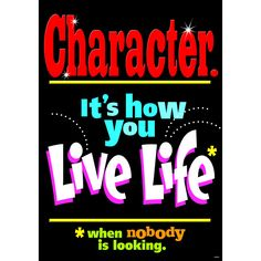 POSTER CHARACTER ITS HOW YOU LIVE