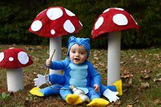 The caterpillar from Alice in Wonderland costume with family Alice in Wonderland costumes