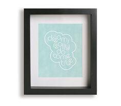 Somewhere Over The Rainbow / Iz - Music Lyric Art Print - wall art, typography print, wall decor, song lyrics, wedding gift, nursery art on Etsy, £12.31