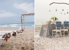 elegant beach theme wedding ceremony and reception ideas #elegantweddinginvites