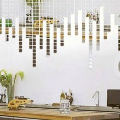 100pcs Mosaic Mirror Acrylic Mirrored Decorative Sticker 3D wall sticker Wall Decal home decoration living room bedroom bathroom