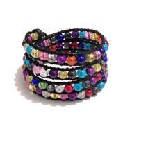 """Armband  """"Chan Luu"""" Stil Crackle Glasperlen von Tessie's  Schmuck & Deko auf DaWanda.com"""