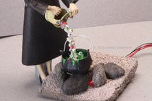 FASHION DOLL SIZE TRICK OR TREAT FILLABLE HALLOWEEN WITCHES CALDRON FOR CANDY
