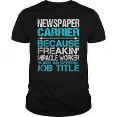 Awesome Tee For Newspaper Carrier T Shirts, Hoodies. Get it now ==► https://www.sunfrog.com/LifeStyle/Awesome-Tee-For-Newspaper-Carrier-114975401-Black-Guys.html?57074 $22.99