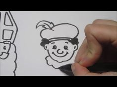 Sinterklaas & Zwarte Piet leren tekenen in stappen! - YouTube
