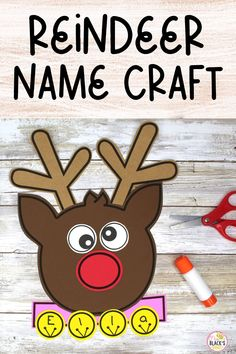 Are you looking for ideas, lessons, crafts or activities for Preschool or Kindergarten? You will love this reindeer cut and paste craft template. Students simply cut and glue the pieces together to make a reindeer. The bells can be added to the collar for name practice. This template is simple and makes an adorable display for hallways or classroom doors once completed. Kindergarten Crafts, Kindergarten Classroom, Preschool Crafts, Kwanzaa, Hanukkah, Christmas Activities, Christmas Crafts, First Grade Crafts, Name Practice