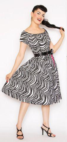 Sue Dress in Zebra Print