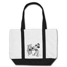 Steamboat Willie Mickey Mouse Canvas Bag