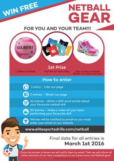 Get your entries in soon to win great Netball prizes!