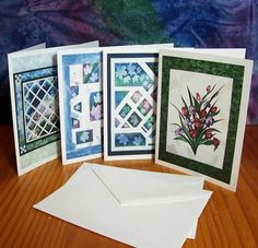 Sunprints and More Art Quilt Photograph Note Cards- Set of 12- #10   AndrusGardensQuilts - Cards on ArtFire