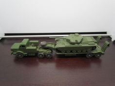 Dinky Military Toys Mighty Antar, Tank Transporter 660 and Centurion Tank 651