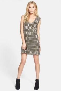 Pleaded metallic dress by MINKPINK.