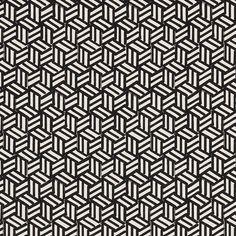 Schumacher - TUMBLING BLOCKS - Miles Redd fabric black white #drdfabric