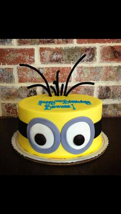Despicable Me Minion Cake!  By Julia's Homestyle Bakery, Murfreesboro TN