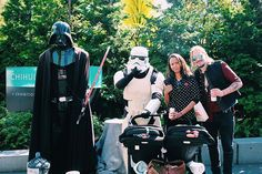 Pin for Later: Zoe Saldana and Marco Perego Are So Cute Together, It Actually Hurts  In 2015, the happy family posed for a fun picture with Darth Vader and a Stormtrooper.