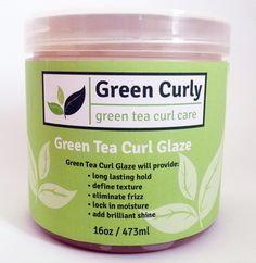 Bring your hair's texture to the forefront during your wash and go routine! Green Tea Curl Glaze is an avant-garde, moisturizing and all natural styling gel made for all curly hair types including: coily, curly, spiral, wavy and zig-zag hair types.  Green Tea Curl Glaze will provide long lasting hold and:  * define texture * eliminate frizz * lock in moisture * add brilliant shine