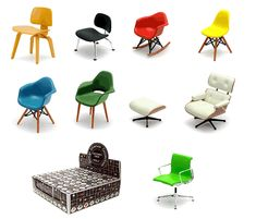 Eames miniature chair collection...until I can afford the real thing!