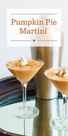 Pumpkin Pie Martini: Pumpkin liqueur gives this martini its festive fall flavor. Add a cinnamon stick and a sprinkle of nutmeg and voila! A Pumpkin Pie Martini is born. Alcohol Drink Recipes, Martini Recipes, Fall Drinks Alcohol, Mixed Drinks, Cocktail Recipes, Thanksgiving Drinks, Holiday Drinks, Fall Cocktails, Vodka Cocktails