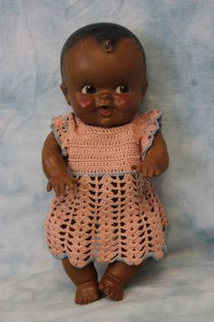 """10"""" Amosandra Doll by Sun Rubber Co. from the Amos and Andy Radio Show"""