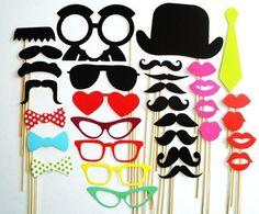 accesorios photo booth establecer 32 bigote en palo fiesta de bodas fotomatón máscaras divertidas dama de regalos para bodas decoración[210361] en Artículos de Fiesta de Casa y Jardín en AliExpress.com | Alibaba Group
