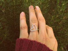 Sterling Silver Large Heart Ring   Wear It Jewelry