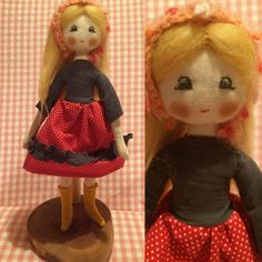 Fabricdoll. Natural, handmade, Design, cotton, wool, knitting.