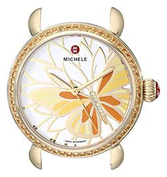 MICHELE Women's MW05D41B0996 CSX Analog Display Swiss Quartz Gold Watch Head * To view further for this item, visit the image link.