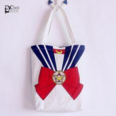 Harajuku Ladies Japanese Stylish Preppy Style Sailor Moon Bowknot Print Handbag