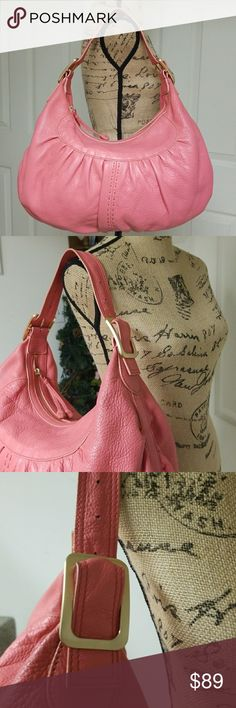 Cole Haan Large Hobo Bag Excellent condition inside and out   Light Pink with gold hardware Cole Haan Bags Hobos
