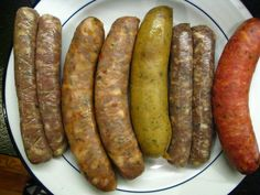 sausages of every kind   ... , chicken cherry, wild boar w/ apple & a spicy, smoked beer sausage