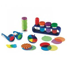 Learning Resources recently sent me a fun little science set to check out: The Primary Science Color Mixing Set . I ADORE science sets lik. Science Tools, Science Kits, Primary Science, Preschool Science, Learning Toys, Learning Resources, Pair Et Impair, Stem Skills, Kids Daycare