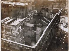 The General Post Office & Henry Street from Nelson's Pillar, May 18 - Digital Repository of Ireland Ireland 1916, Dublin Ireland, Dublin Street, Dublin City, General Post Office, Easter Rising, Modern History, Roman Catholic, Aerial View