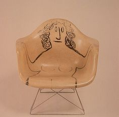 Eames chair + Steinberg drawing