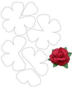 taller-de-fieltro-desde-cero-patron5-flor3d                                                                                                                                                                                 Más Giant Paper Flowers, Felt Flowers, Diy Flowers, Fabric Flowers, Felt Roses, Table Flowers, Paper Flowers Craft, Flower Crafts, Paper Flower Patterns
