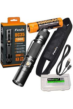New Nebo Redline 220 LM DEL Tactical flashlight de Poche Torch Zoom Feature