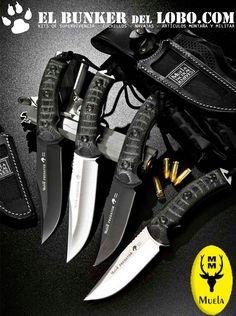 En Elbunkerdellobo teneis disponibles la serie de cuchillos Muela Predator. Como siempre al mejor precio. Con gastos de envio gratis