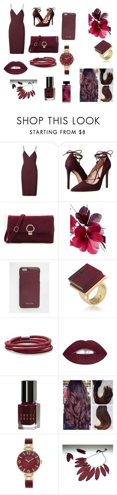 """""""Red/purple"""" by morganleahc ❤ liked on Polyvore featuring T By Alexander Wang, Massimo Matteo, Valentino, Calvin Klein, Trina Turk, BillyTheTree, Bobbi Brown Cosmetics, Anne Klein and Elizabeth Arden"""