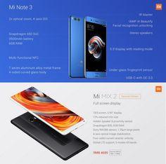 #Xiaomi unveils second bezel-less #MiMix2 smartphone and new #MiNote3 #Mi #Mix2 #Note3