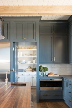 Home Interior Inspiration Unique hidden kitchen pantry with a secret doorway from Studio Mcgee.Home Interior Inspiration Unique hidden kitchen pantry with a secret doorway from Studio Mcgee Kitchen Pantry Design, Kitchen Pantry Cabinets, Home Decor Kitchen, Kitchen Living, Kitchen With Pantry, Kitchen Ideas, Living Room, Navy Kitchen, Rustic Kitchen