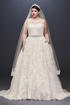 Looking for the top wedding dress designers? Browse David's Bridal elegant designer wedding dresses & gowns to select the perfect look for your big day! Wedding Dresses Plus Size, Wedding Dress Styles, Dream Wedding Dresses, Bridal Dresses, Gown Wedding, Modest Wedding, Lace Wedding, Wedding Reception, Wedding Vows