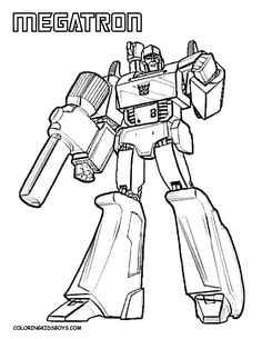 Coloring Page, Transformers, Free, Boys Coloring, Coloring Pictures