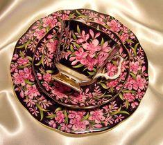 Royal Albert England ~ Provincial Flower Series ~ Fireweed ~ 3 Piece Trio