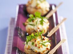 Découvrez la recette Champignons au fromage frais sur cuisineactuelle.fr.
