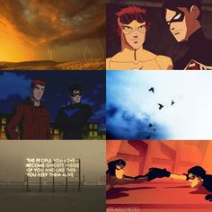 Dick Grayson and Wally West