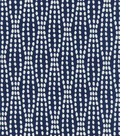 Waverly Upholstery Fabric-Strands Navy