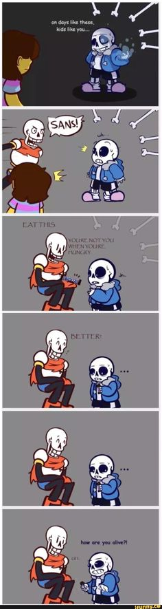 undertale, Sans, Papyrus (omg this made me lol so hard XD) Undertale Undertale, Undertale Comic Funny, Undertale Pictures, Frisk, Cute Comics, Funny Comics, O Pokemon, Pikachu, Toby Fox