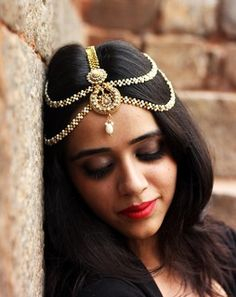 ` Ethnic Wear Designer, Hair Pieces, Bridal Jewelry, Boho, Chain, Earrings, How To Wear, Accessories, Product Catalog