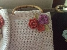 Purse Bag crochet handmade soft beige color by NannnyMcTaitCrochet